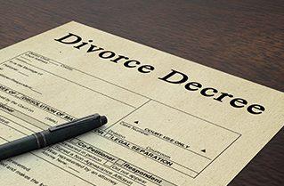 Divorce decree paper